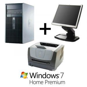 Pachet Office Calculat HP Compaq DC5750 cu licenta+Monitor 17 inch+Imprimanta laser Lexmark