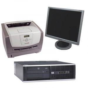 Pachet Calculator HP Compaq 6000Pro, E8400+Monitor 19 inch+Imprimanta laser Lexmark E352DN