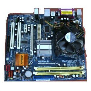 Kit placă de bază Socket 775 + procesor Core2Duo E7400 2.8GHz